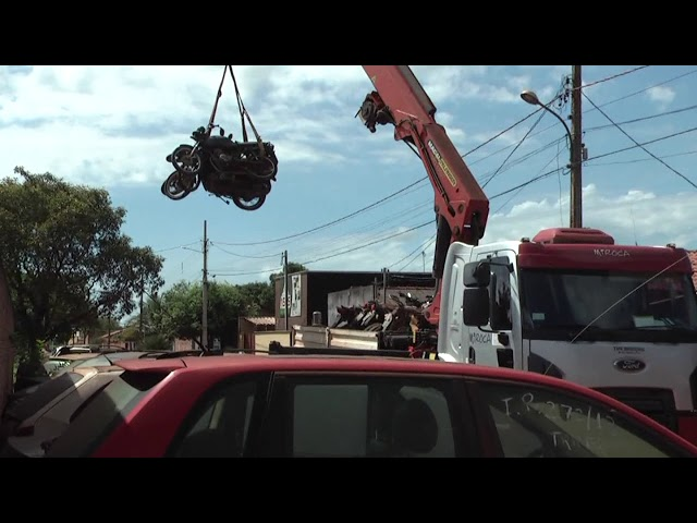 Polícia Civil: motos que estavam na delegacia são transferidas para Ciretran e veículo é recuperado