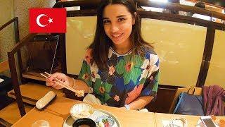トルコ人美女!すっぽん、鮑、松茸!料理の鉄人、懐食みちばの和食に舌鼓!Japanese foods in Ginza!