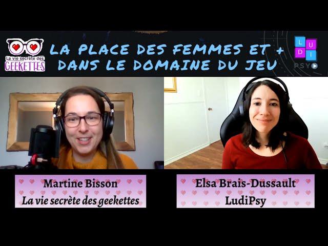 La Place des Femmes et + dans le Domaine du Jeu: Martine de La vie secrète des geekettes