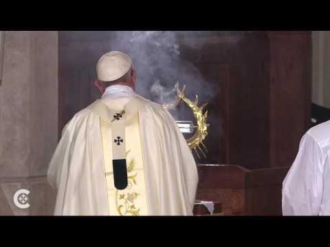 Pope venerates St. John Paul II's blood