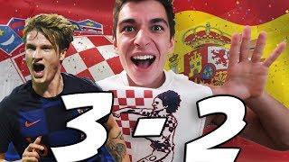 CROATIA VS SPAIN 3-2 Reaction - JEDVAJ OUR HERO!