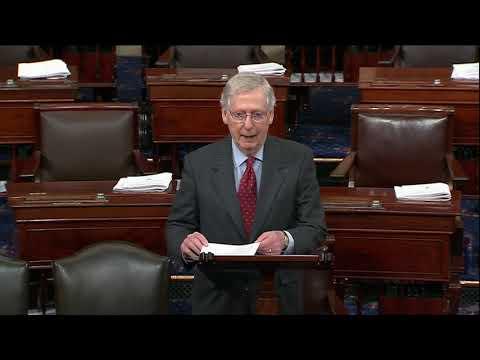 Leader McConnell Honors Sen. Heller on the floor of the U.S. Senate