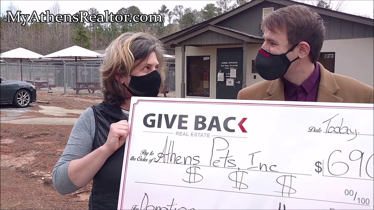 How can I HELP ANIMALS in my area of Athens, Ga? Georgui donating to his clients' chosen charity.