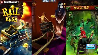 Angry Gran Run - Bus Rush - Rail Rush Running Games Android İos Free Game GAMEPLAY VİDEO