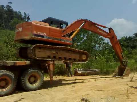 Extreme Maneuver - Unloading the Excavator