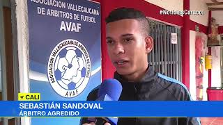 Agreden a árbitro durante partido en Liga Juvenil de fútbol en Valle del Cauca
