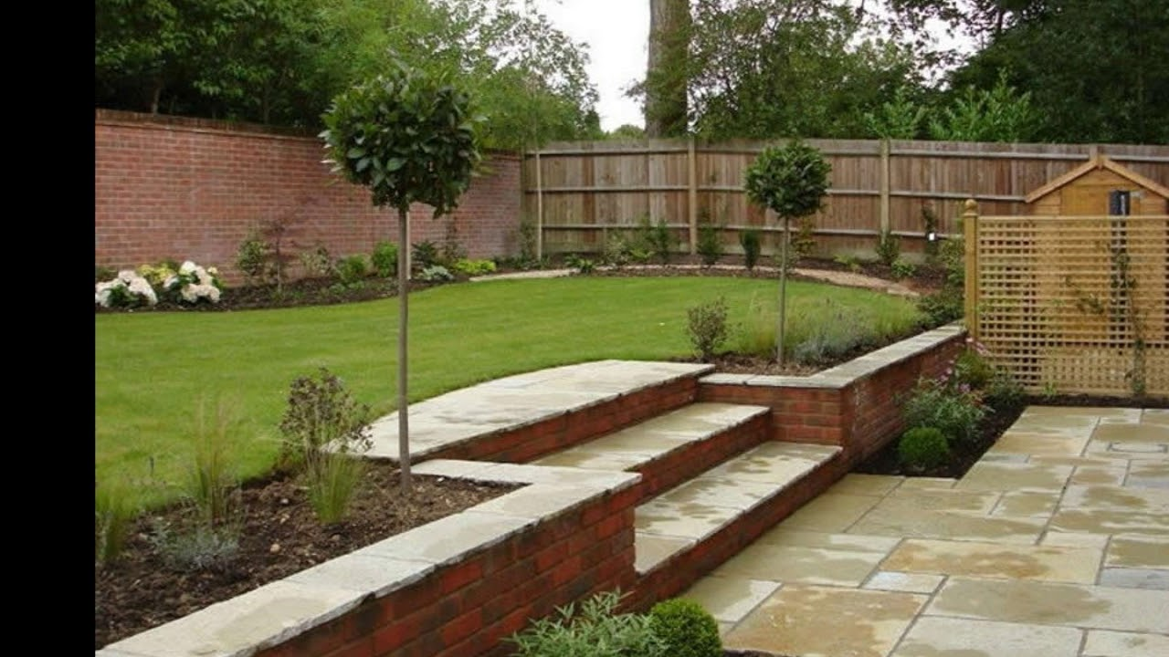 front garden design slope