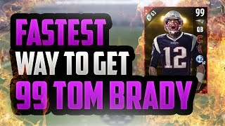 fastest and easiest way to get 99 ovr tom brady   madden 17 ultimate team cover