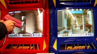 Time Crisis 2 Twin Shooter Arcade Machine in Play