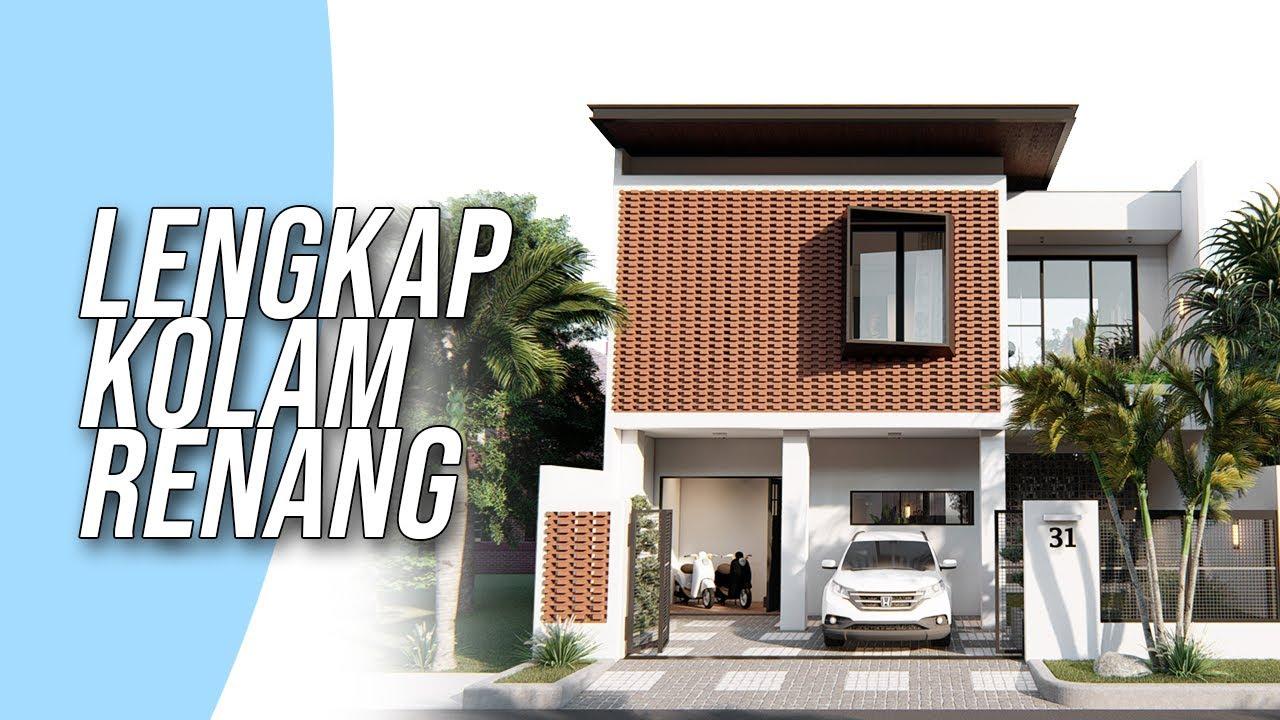 Desain rumah minimalis 2 lantai di lahan ukuran 10x15 meter lengkap kolam renang