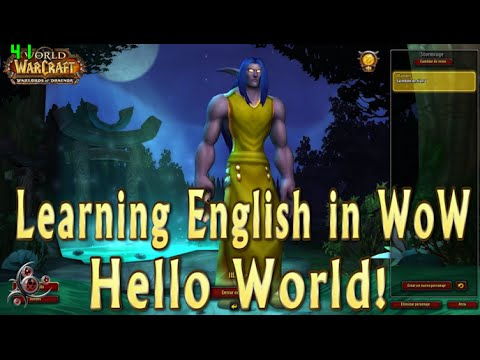 Hello World! - Learning English in WoW #001