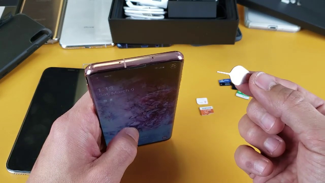 Galaxy S10/S10E/S10+: How to Insert Sim & SD Card Properly (and how to  check)