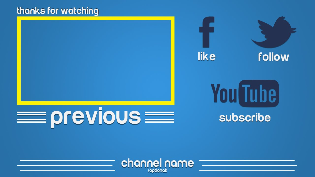 Outro template 3 happy clean free photoshop download for Free outro template