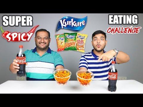 SUPER SPICY KURKURE EATING CHALLENGE WITH COKE | Spicy Kurkure Eating Competition | Food Challenge