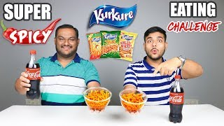 SUPER SPICY KURKURE EATING CHALLENGE WITH COKE | Spicy Kurkure Eating Competition | Food Challenge