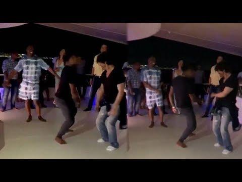 Shah Rukh Khan Lungi Dance With Dwayne Bravo Video Goes Viral On Social Media Mp3