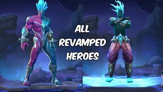 OLD HEROES REVAMPED LIST IN MOBILE LEGENDS || ROCCO_YT ||