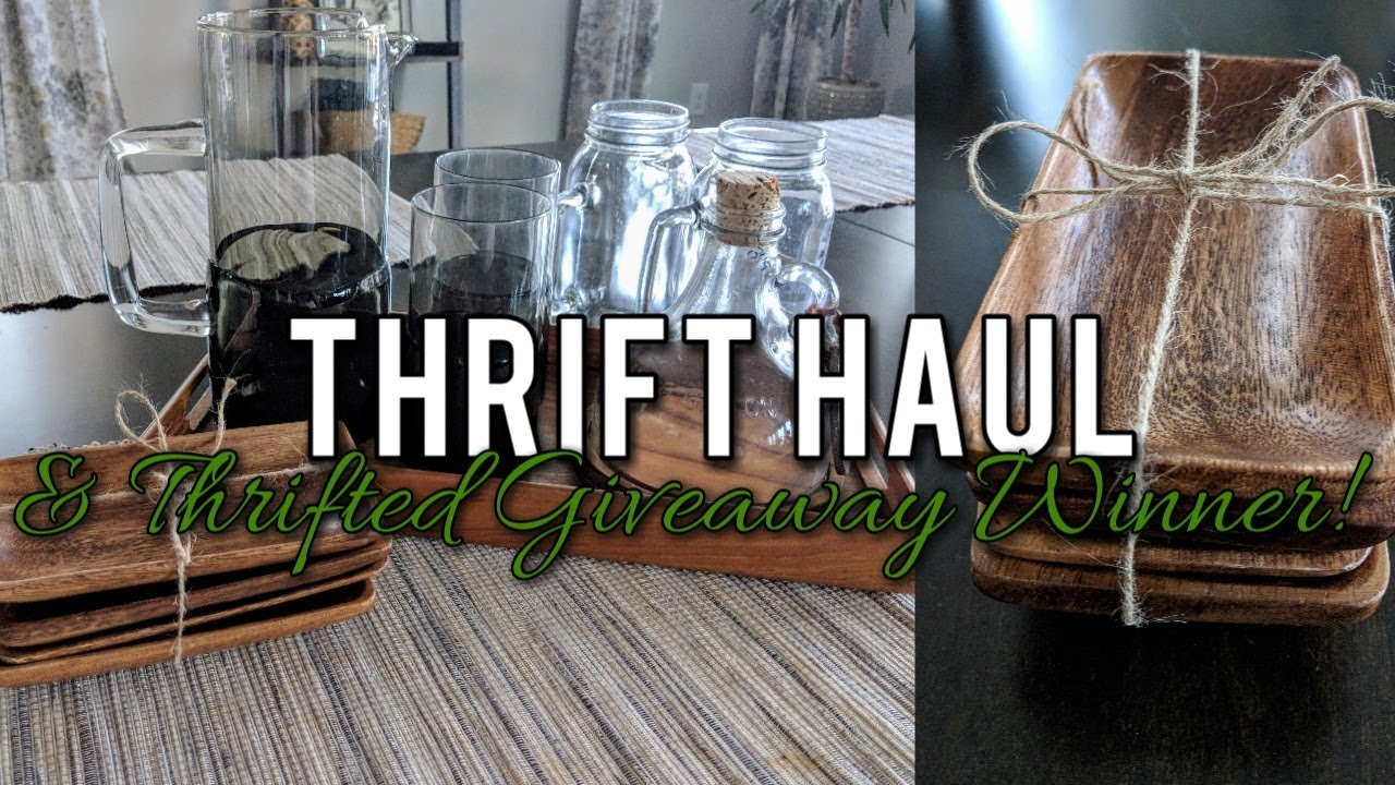 Goodwill Home Decor Thrift Haul & Thrifted Giveaway Winner
