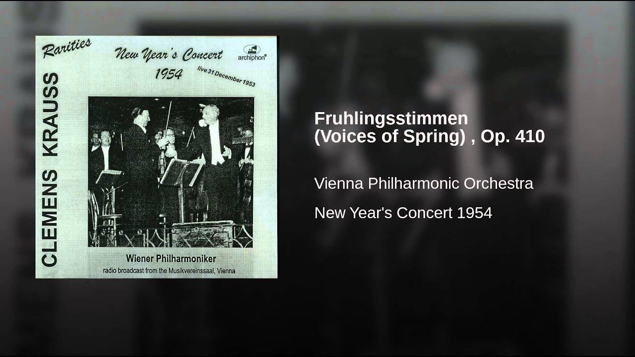 Frühlingsstimmen, Op. 410 - Fruhlingsstimmen (Voices of Spring), Op. 410