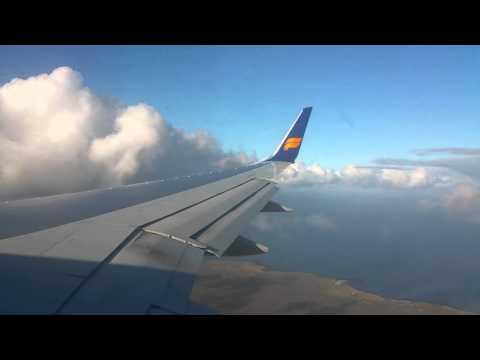 Icelandair flight FI307, Boeing 757-200, landing at Reykjavik Keflavik Airport