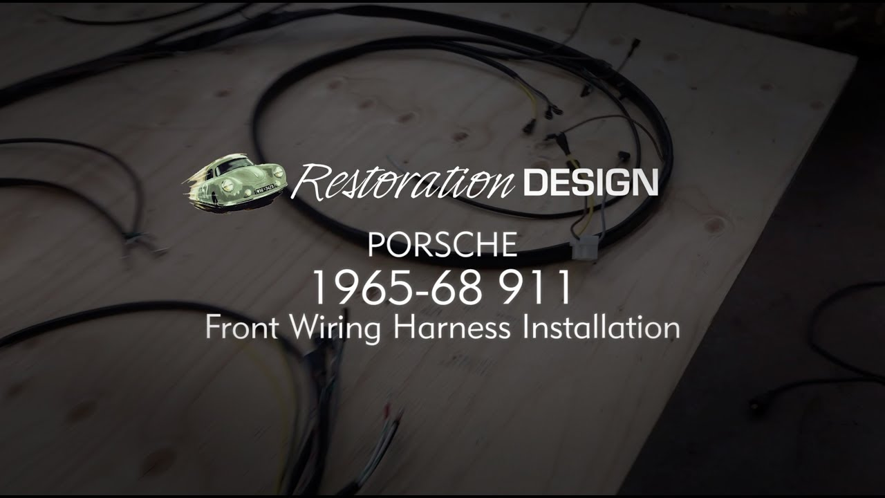 1967 porsche 912 wiring diagram porsche 1965 to 1968 911 front wiring harness installation from  911 front wiring harness installation