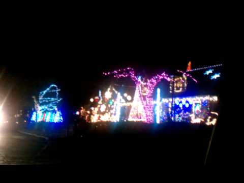 Christmas Lights at this wild house in Evanston with their own radio station