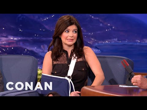 "Thanks to ""Happy Endings,"" Casey Wilson Is Sporting A Sling - CONAN on TBS"