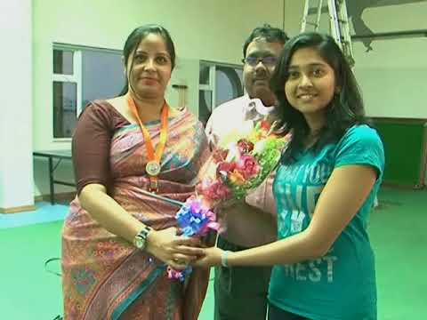 Little Laureates kids felicitated Ms. Mehuli Ghosh, double bronze medal winner shooting competition.
