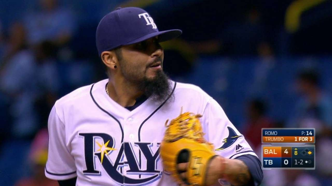 Rays' Sergio Romo: Getting another start Sunday