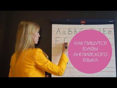 Как написать английский алфавит
