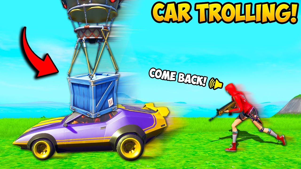 *NEW* TROLLING PLAYERS WITH CARS!! - Fortnite Funny Fails and WTF Moments! #999