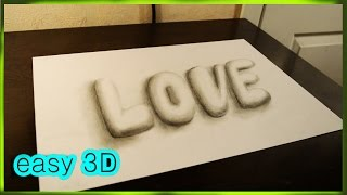 Простое 3D графити ЛЮБОВЬ  How to draw  LOVE  in 3D graffiti(ПРОСТЫЕ 3D рисунки - http://www.youtube.com/playlist?list=PL9RJD2tRjH9UJ0pvQhGXJGSOsPsrQE4Uj 3D РИСУНКИ ..., 2015-12-19T21:58:16.000Z)