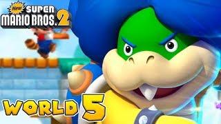 New Super Mario Bros. 2 - World 5 (2/2) - (Nintendo 3DS & 2DS Gameplay)