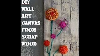 How To Make A Pallet Wood Canvas