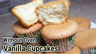 Vanilla cupcakes_Perfect ,fluffy, moist cupcakes recipe_How to make cupcakes without oven