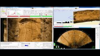 Using a forward look imaging sonar as a nadir gap filler for sidescan data. Video