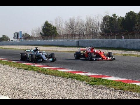 Formula 1 2017 Barcelona Test Mercedes VS Ferrari + SOUND