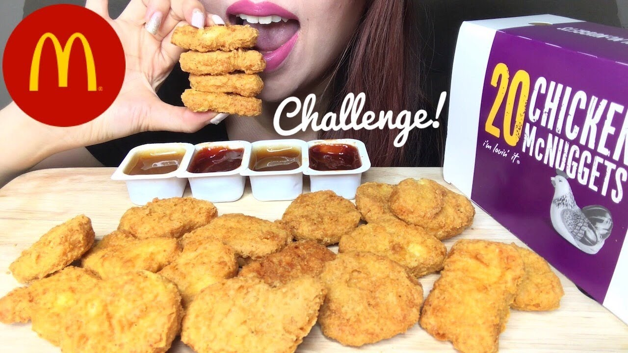 Asmr Mcdonalds Chicken Nuggets Challenge Auzsome Austin Eating Sounds No Talking
