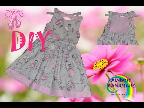 Летнее платье для девочки с открытой спинкой/Summer Dress With Open Back
