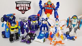TRANSFORMERS RESCUE BOTS, CHASE, POLICE STATION, BLADES, BLURR, HIGH TIDE, SALVAGE, DINOBOT ROBO DOG