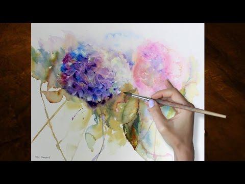 Old Garden Hydrangeas Tutorial Leaves Technique Youtube