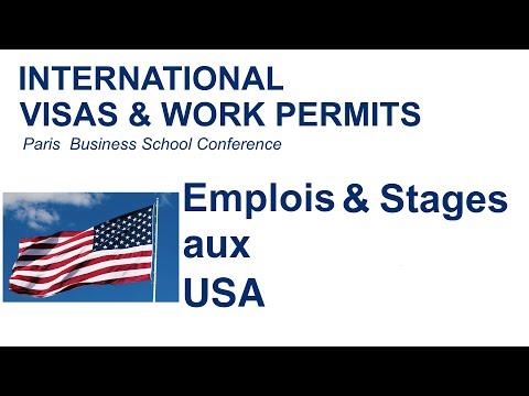 Emplois et stages aux USA / Visas & Permis de travail