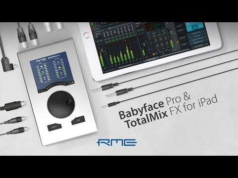 RME Audio Babyface Pro and TotalMix FX for iPad