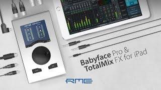 Бэбифейсом професійний аудіо інтерфейс і TotalMix FX для iPad аудіо РМЕ