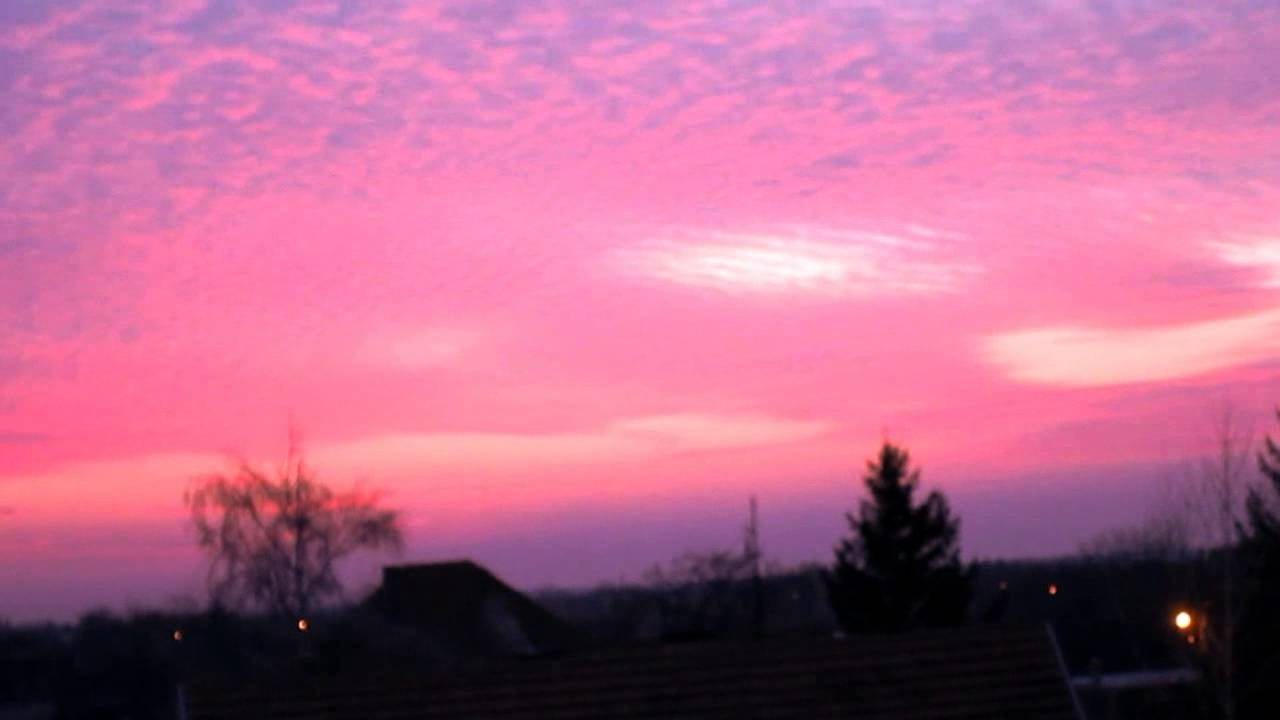 Pink sunset - YouTube