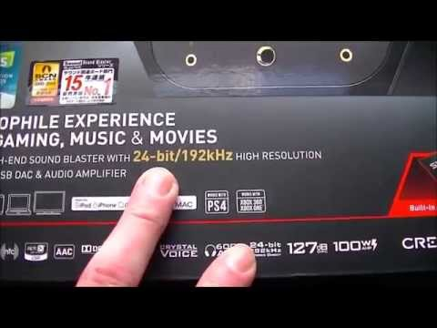 Creative Sound Blaster X7 Unboxing and Review