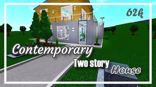 Contemporary Two story house - 62k | Bloxburg Roblox