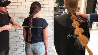 Cut Off Long Hair To Short by Professional | Amazing Hair Transformations Compilation