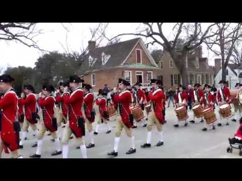 Colonial Williamsburg Fifes and Drums. Cunningham's Graduation March. Entire March (Long Version)