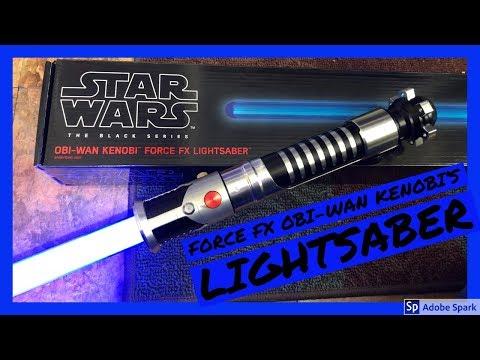 Black Series Obi Wan Kenobi Ep 1 Force Fx Lightsaber Review Youtube